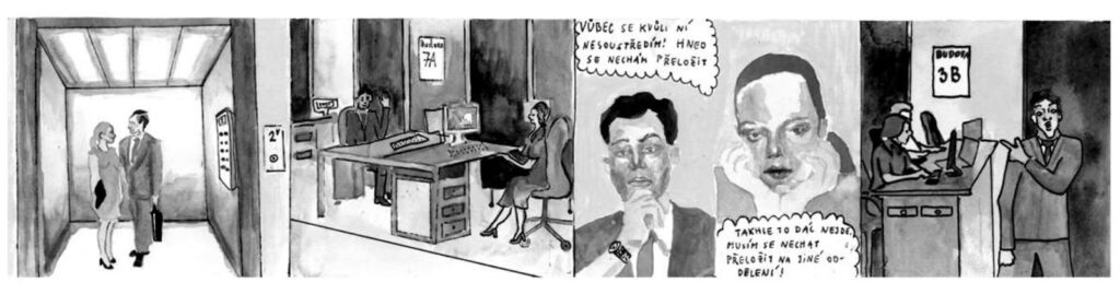 Kresba románek na pracovišti